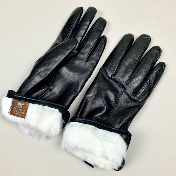 c1177f7d5 Fratelli Orsini Accessories - NWOT Fratelli Orsini Black Italian Leather  Gloves